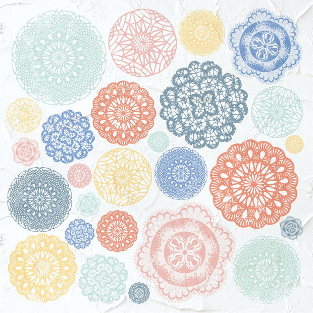 Crafternoon 12 x 12 Scrapbook Paper - Crochet