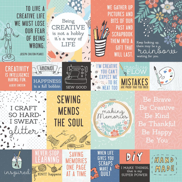 "Crafternoon 12 x 12"" Scrapbook Paper - DIY"