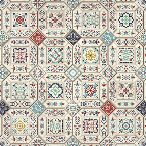 "Grand Bazaar 12 x 12"" Scrapbook Paper - Ceramic Tiles"
