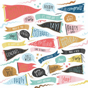 Oh Happy Day! 12 x 12 Scrapbook Paper - Time to Party