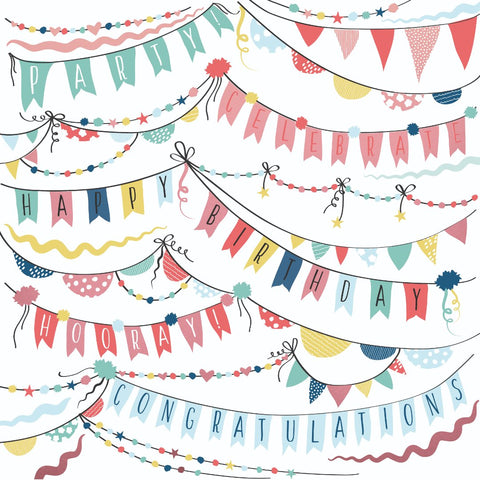 "Oh Happy Day! 12 x 12"" Scrapbook Paper - Garlands"