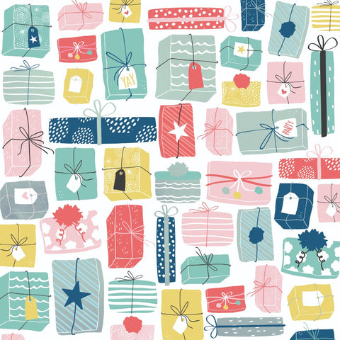 "Oh Happy Day! 12 x 12"" Scrapbook Paper - Wrapped Up"