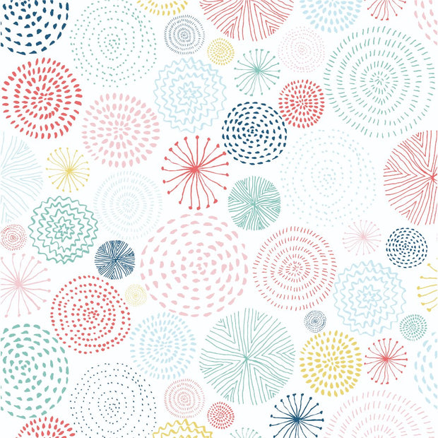 "Oh Happy Day! 12 x 12"" Scrapbook Paper - Bright Bursts"