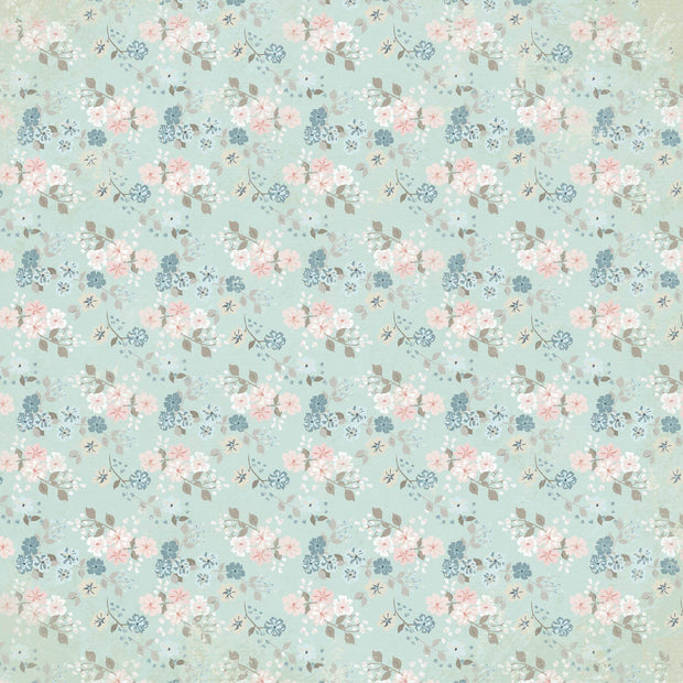 Flower Shoppe 12x12 Scrapbook Paper - Afternoon