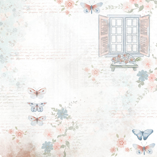 Flower Shoppe 12x12 Scrapbook Paper - Sunroom
