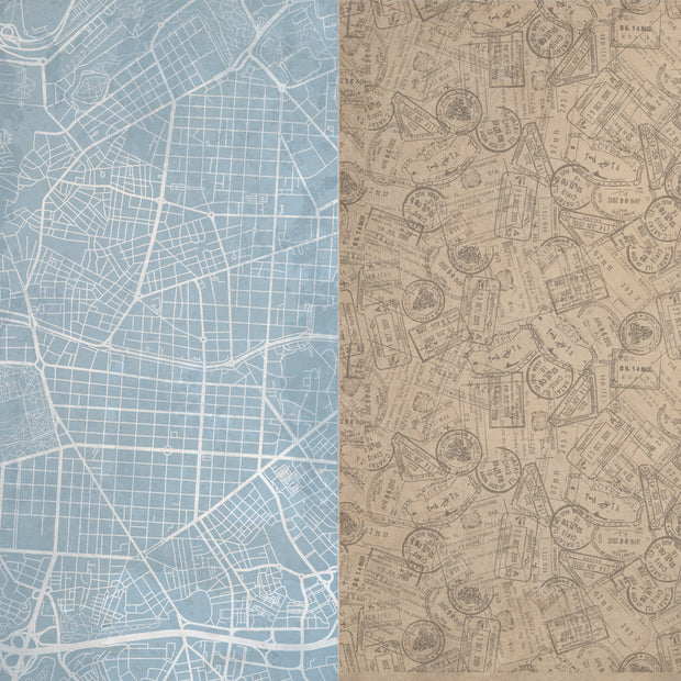 Explorer 12x12 Scrapbook Paper - District