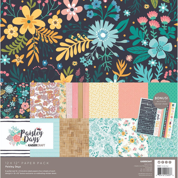 Paisley Days Paper Pack with Bonus Sticker Sheet