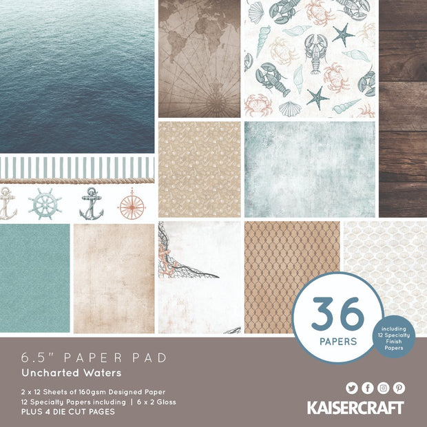 6.5 x 6.5 Paper Pad - Uncharted Waters
