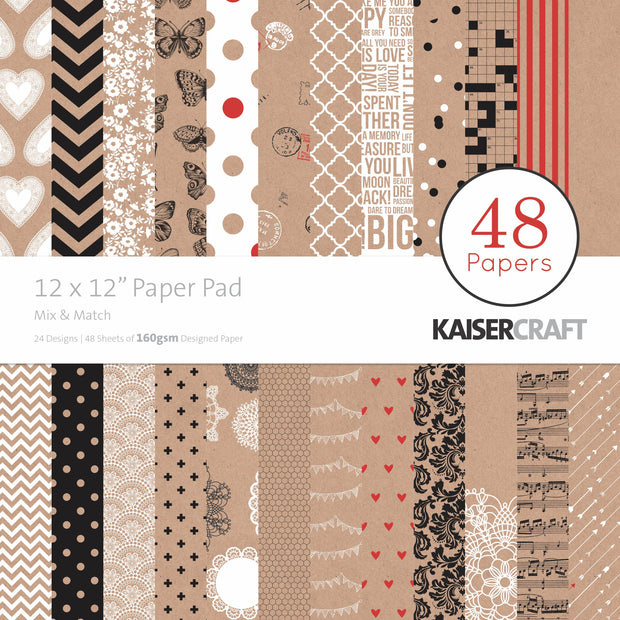 "12 x 12"" Paper Pad - Mix & Match"