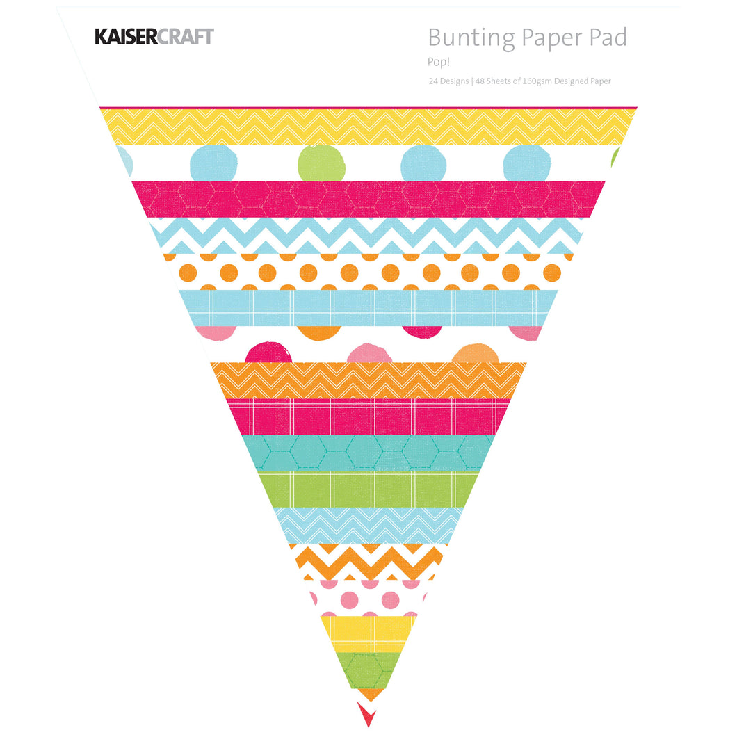 Triangle Paper Pad - Pop! Bunting