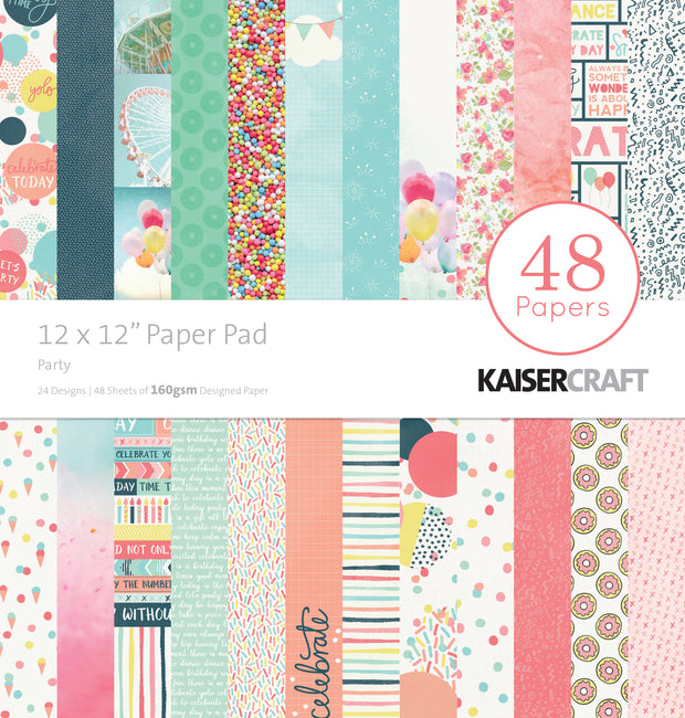 "12 x 12"" Paper Pad - Party"