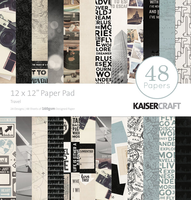 "12 x 12"" Paper Pad - Travel"