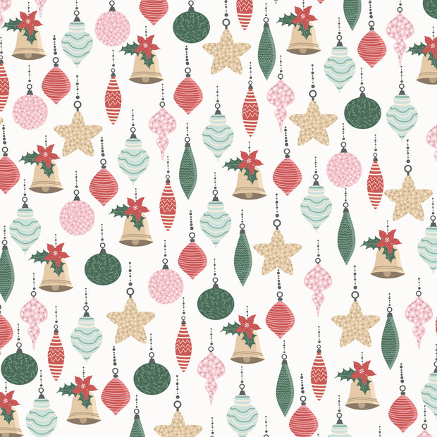 Peppermint Kisses 12 x 12 Scrapbook Paper - Bright Baubles