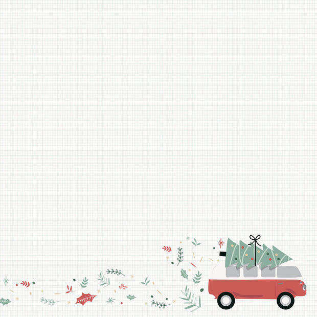 "Peppermint Kisses 12 x 12"" Scrapbook Paper - Combi Christmas"