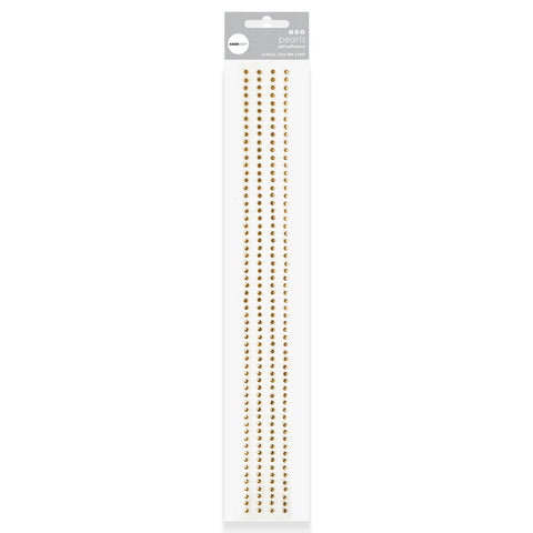 Rhinestone Strips - Antique Gold