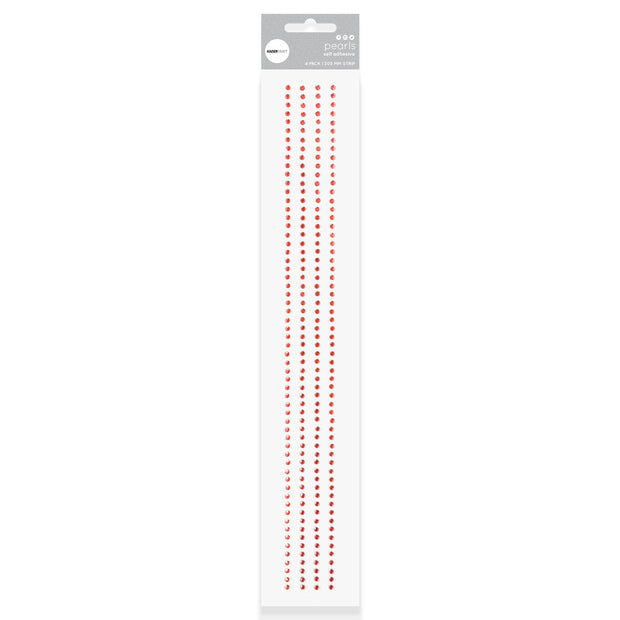 Rhinestone Strips - Red