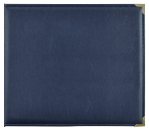 Leather D-Ring Album - Navy