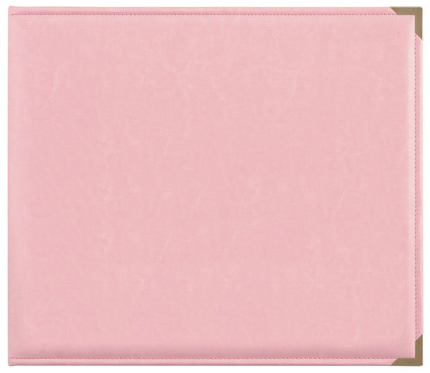 Leather D-Ring Album - Pink