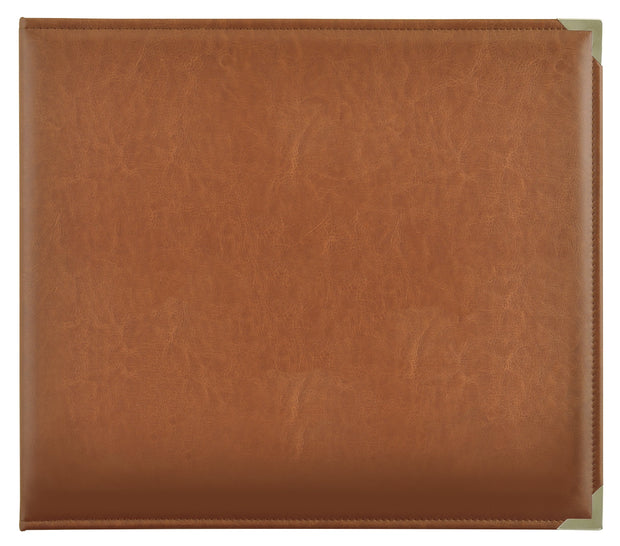 Leather D-Ring Album - Tan