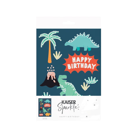 Sparkle Art G Card BDay - DINOSAUR