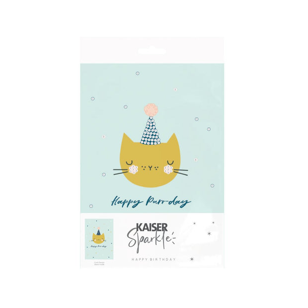 Sparkle Art G Card BDay - KITTY