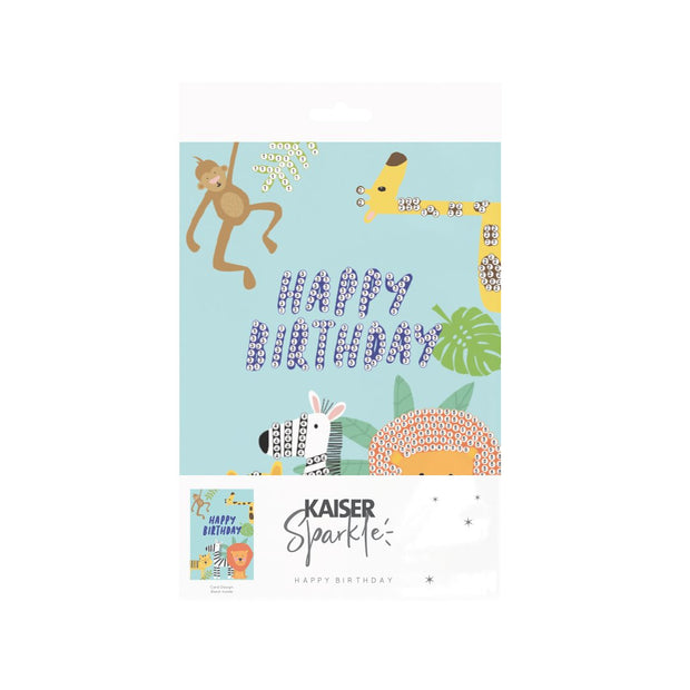 Sparkle Art G Card BDay - SAFARI