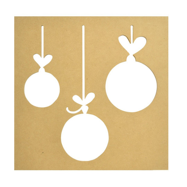 Baubles Silhouette Wall Art