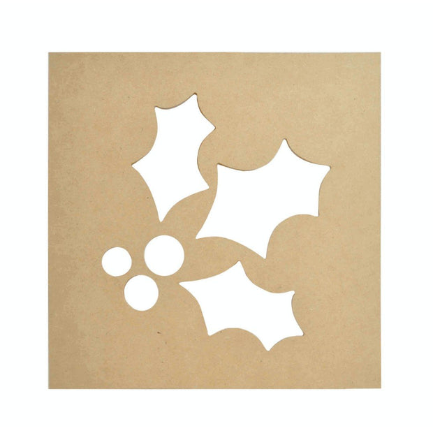 Holly Silhouette Wall Art