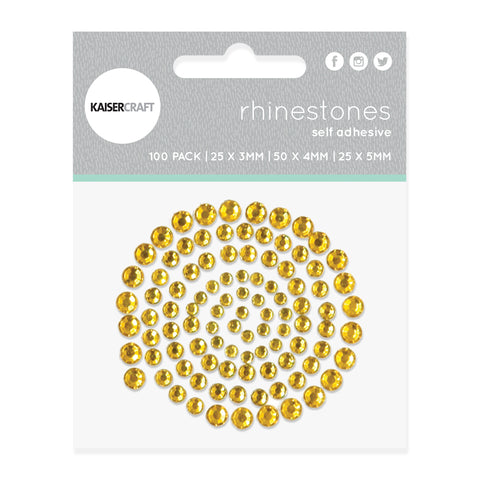 Rhinestones - Yellow Deep