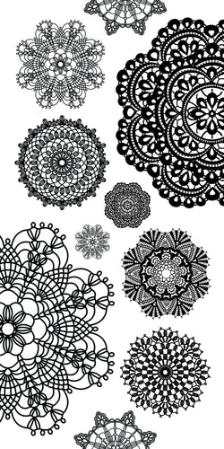 Clear Stickers - Doilies