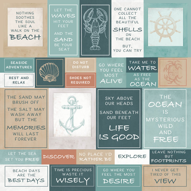 Uncharted Waters 12 x 12 Scrapbook Paper - Shallows