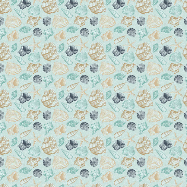 "Uncharted Waters 12 x 12"" Scrapbook Paper - Tide Pool"