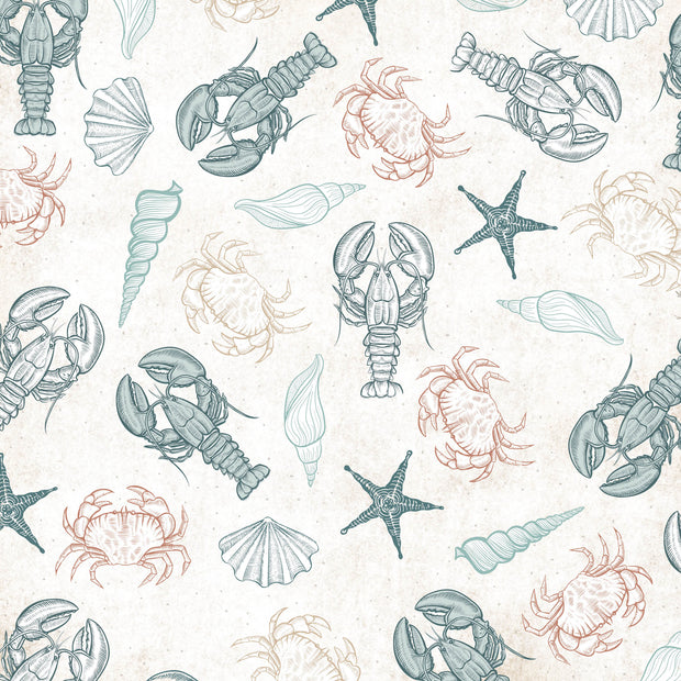 "Uncharted Waters 12 x 12"" Scrapbook Paper - Oceanic"