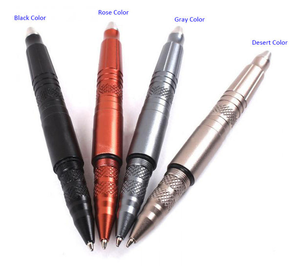Tactical Pen Multi-tool with Knife/Light/Stinger, 4 Colors