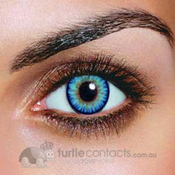 Dual Colour Sky Blue Contact Lenses (90 Day)