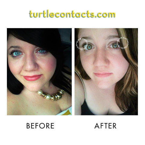 dual colour brown contact lenses 90 day turtlecontacts com au