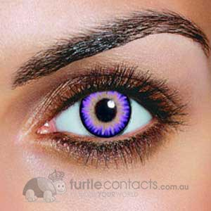 Triple Colour Violet Contact Lenses (90 Day)