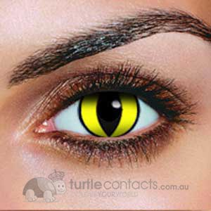 Yellow Cat Contact Lenses (90 Day)