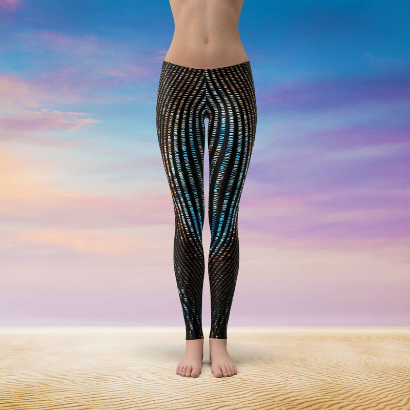 Spirit & Glitch:Technicolor Dreamcode Leggings