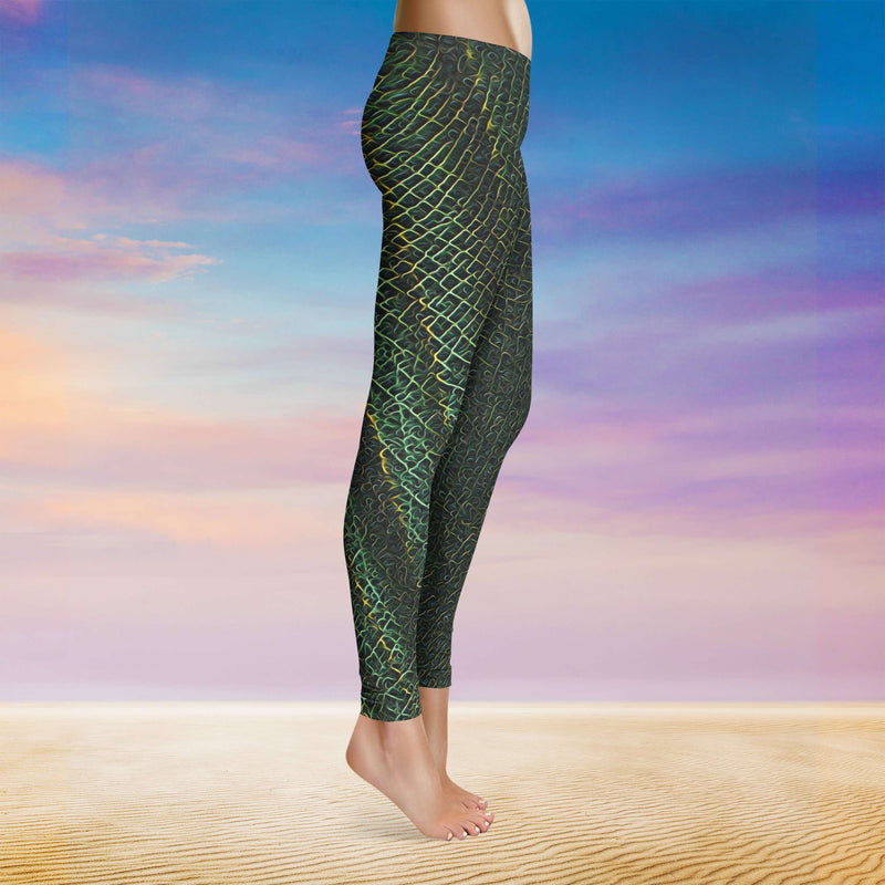 Spirit & Glitch:Green Beast Leggings