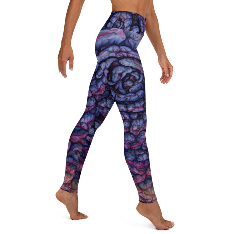 Psychedelic Plum Goddess Leggings