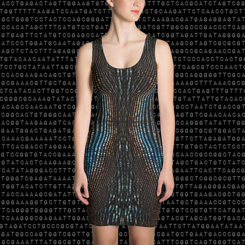 Spirit & Glitch:Technicolor Dreamcode Dress