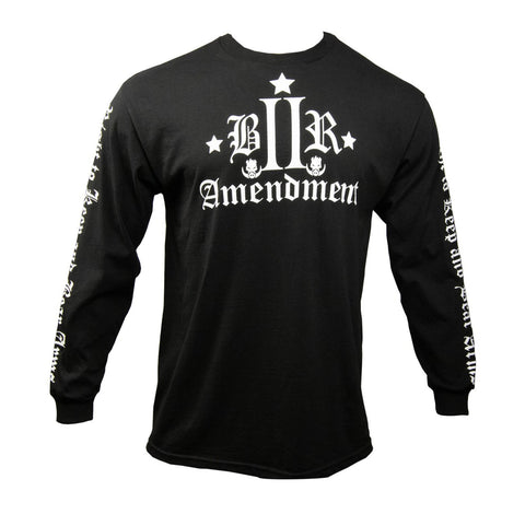RUSTYBOAR Long Sleeve BLACK Bill of Rights II Amendment T-Shirt