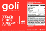 "Goli Nutrition ""World's First Apple Cider Vinegar Gummy Vitamins"""