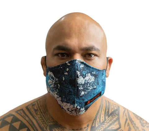 RUSTYBOAR Mask Pacific Blue Camo