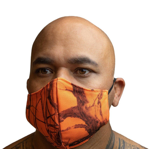 RUSTYBOAR Mask Ripstop High Visibility (Safety Orange)