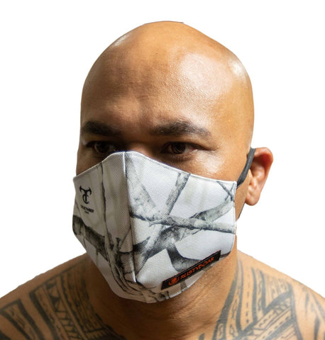 "RUSTYBOAR Mask ""MAUNA KEA"" White Camo **WATERPROOF**"