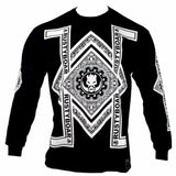 RUSTYBOAR Long Sleeve BLACK Bandana T-Shirt