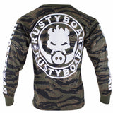 RUSTYBOAR Long Sleeve Tiger Stripe Camo Logo T-Shirt