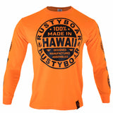 RUSTYBOAR Long Sleeve SAFETY ORANGE Nutrition T-Shirt